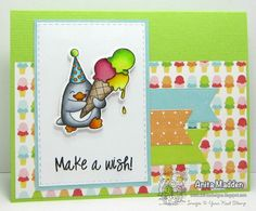 Your Next Stamp - YNS Supplies: Waddles – Happy Brrr-thday stamp set and matching dies | Stitched Rectangle Dies  #yournextstamp