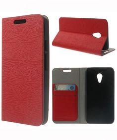 Motorola Moto G 2014 Wood Texture Wallet Case Rood