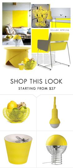 """YELLOW SPRING"" by tiziana-melera ❤ liked on Polyvore featuring interior, interiors, interior design, home, home decor, interior decorating, VerPan, yellow, trend and interiorstyle"