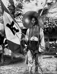 Manchu soldier of the Qing Dynasty.