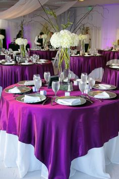 Satin Table Overlays Whether it's a grand party or just a social with friend and family, our table runners will be perfect for your event. Fabric = Satin. stain & wrinkle resistant. 1 piece, seamless design Edges are folded & then hemmed Please note: High-quality material used, weight of this item is very heavy. Use warm water to wash, use low heat when drying. They can be used over and over. Please contact me with any questions or to see a photo of a specific specific color.