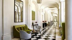 I love this Green. Trianon Palace Versailles, a Waldorf Astoria Hotel, Île-de-France, France
