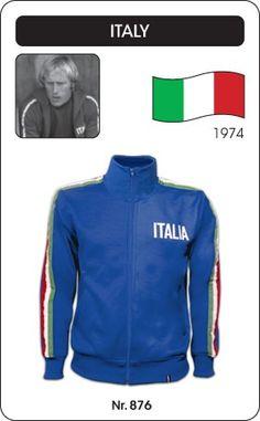 Italië voetbal jack WK 1974 (ITALIA) Italy retro voetbal truitje football soccer vintage sport COPA