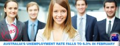 Unemployment rate in #Australia's falls to 6.3% in February..