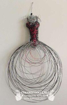 Dress Sketch Wire Sculpture