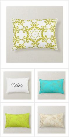Summer Stripes, Cottage, Patio, Throw Pillows, Bed, Home, Decor, Toss Pillows, Decoration