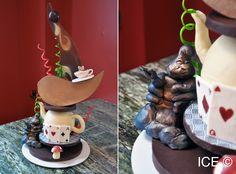 An Alice in Wonderland chocolate sculpture