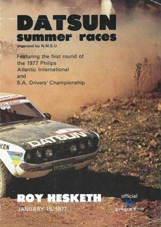 We hope you enjoy your visit to this website, enquiries, comments and suggestions will be most welcome.We still need contributions of programme covers and contents not listed between 1953 to Race Tracks, Programming, South Africa, 1970s, January, African, Racing, Posters, Cars