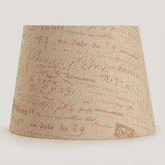 Parisian Script Table Lamp Shade | World Market - living room