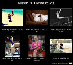Women s gymnastics - What people think I do, What I really do