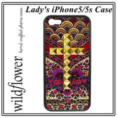 WILDFLOWER ワイルドフラワー アメリカ 高級感 クロス スタッズ iphone 5 5s case ロイヤル フラワー カバー アイフォン ケース apple アイホン 海外 ブランド