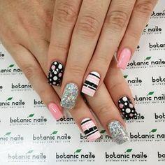Dot Nail Art, Polka Dot Nails, Acrylic Nail Art, Nail Art Diy, Diy Nails, Polka Dots, Dot Nail Designs, Simple Nail Art Designs, Nails Design