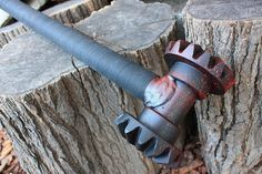 Handcrafted Heavy weight Zombie Gear Head  Great Maul or War hammer