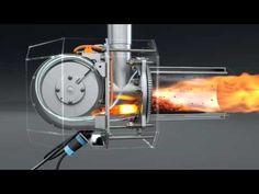 Pellet burner. Пеллетная горелка для котла http://kipi.pl/ Польша. - YouTube