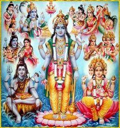 hindu gods brahma vishnu and shiva