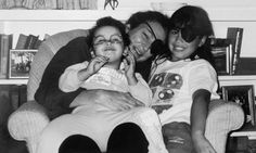 Marie with nieces Michelle Colvin, right, and Justine Colvin, Oyster Bay, 2004.
