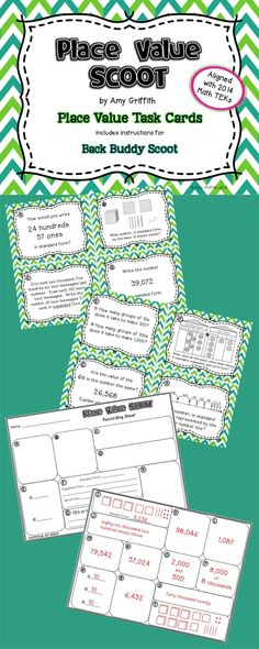 This Place Value Task Card Scoot activity has been created to reflect the new Math TEKs we have in Texas. These cards will give students the practice they need in composing and decomposing numbers. $
