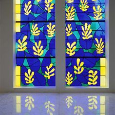 'Tree of Life' Stained glass behind the Altar in the Chapel of the Rosary at Vence, 1948-51 by Henri Matisse. Wow!