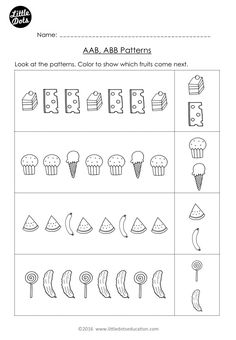 Free The Very Hungry Caterpillar Patterning Worksheet Practice To