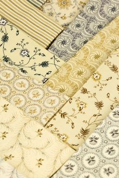 Pulling from elegant and historic mill engravings, Jo Morton has again created a masterpiece of a collection with her latest Haberdashery fabrics. Imbued with delicate cream and beige tones, these new Jo fabrics are sure to be a delightful addition to your stash.