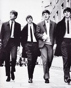 The Beatles photographed in London by Dezo Hoffmann, 2 July 1963.