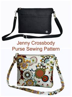 Sewing pattern for a lovely crossbody bag. This zipper bag sewing pattern includes a narrow cross body strap which clips on and off so this can also be used as a clutch bag. Card pockets, a phone pocket and more pockets inside and out make this the perfect on the go bag pattern to sew. #BagSewingPattern #CrossbodyBagPattern #ClutchBagSewingPattern #EasyBagPattern #ZipperBagPattern #EasySewingPattern Handbag Patterns, Bag Patterns To Sew, Tote Pattern, Sewing Patterns, Cross Body Bag Pattern Free, Purse Strap, Patchwork Bags, Simple Bags, Crossbody Bag