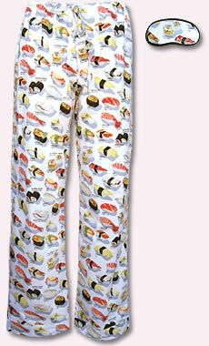 I demand Yummy Yummy Sushi pants, but I refuse to pay $46 dollars for a something that only my hedgehog will see. Looks like it's time to find some sushi print fabric.