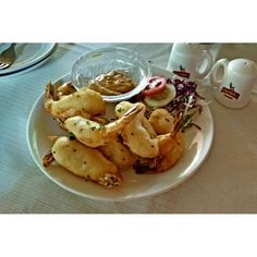 Sesame fried shrimp @ Le club ,Pondicherry followed by creole prawn curry with rice