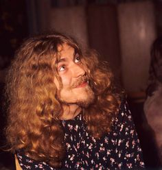 Robert Plant photographed by Tom Hanley at a party for Led Zeppelin, 1970.