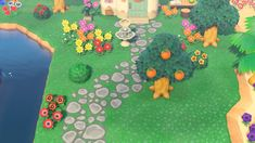 Reddit - ACQR - I spent 12 hours researching and digging deep into my old computer files to resurrect/update this Animal Crossing City Folk cobblestone path design for New Horizons. Bug Images, City Folk, Path Design, Computer File, Stone Path, Old Computers, Animal Crossing Game, Game Item, New Leaf