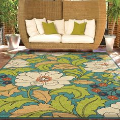 """Promise Collection Tace Multi Olefin Indoor/Outdoor Area Rug (5'2"""" x 7'6"""") - Overstock Shopping - Great Deals on Carolina Weavers 5x8 - 6x9 Rugs"""