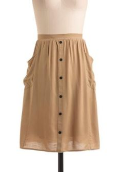khaki in the day skirt from mod cloth