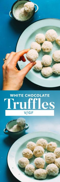 Creamy, perfectly sweet, vegan white chocolate truffles made with 5 ingredients! Low sugar, easy to make, and entirely plant-based!