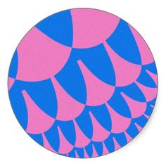 Customizable Cotton Candy Scales Large Round Stickers on sale at www.zazzle.com/wonderart* or click on the picture to take you directly to the product.