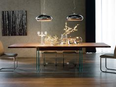 Tavolo allungabile in cristallo IKON DRIVE by Cattelan Italia | design Philip Jackson