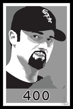 A poster to commemorate Paul Konerko's 400th homer