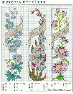 Cross-stitch Birthday Bouquets Bookmarks, part 3...   (2) Gallery.ru / Foto N ° 43 - 56 - Fleur55555