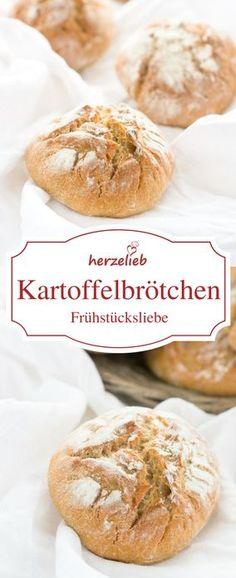 Brot, Brötchen Rezept: Leckere Kartoffelbrötchen zum Frühstück - ganz einfach mit einem Rezept von herzelieb