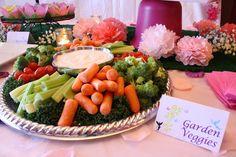 Garden veggies at a Fairy Party #fairy #partyfood