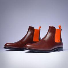 Serfan Chelsea Boot Herren Braun Orange