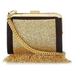 Balmain Bead-embellished fringe clutch bag ❤ liked on Polyvore featuring bags, handbags, clutches, fringe purse, fringe clutches, sparkly handbags, brown fringe handbag and beaded purse