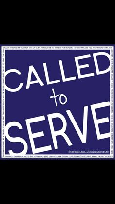 Called to serve the King :)