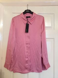 M&S AUTOGRAPH 100%PURE SILK UK12 EU40 BNWT RRP£65 Ladies Shirt Pink  | eBay