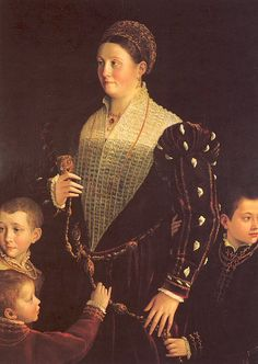 Camilla Gonzaga with Her Three Sons - Parmigianino