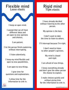 Learning to be flexible - understanding the difference between a flexible & rigid mindset