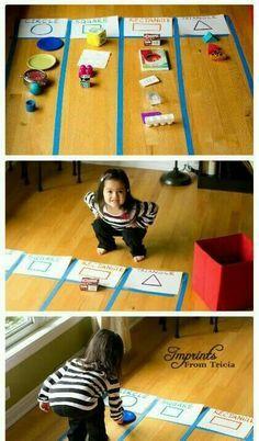 shape games for kindergarten Preschool Learning Activities, Infant Activities, Preschool Activities, Teaching Kids, Kids Learning, Teach Preschool, Shape Games, Learning Shapes, Kindergarten Activities