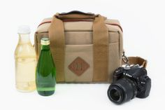 Camera Cooler Bag - A rugged camera bag with sweet vintage style that doubles as a cooler.