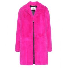 Saint Laurent Mink Fur Coat (103,170 ILS) ❤ liked on Polyvore featuring outerwear, coats, coats & jackets, jackets, fur, pink, mink fur coat, yves saint laurent, mink coat and pink mink coat