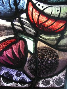 NICOLA KANTOROWICZ painted stained glass poppies