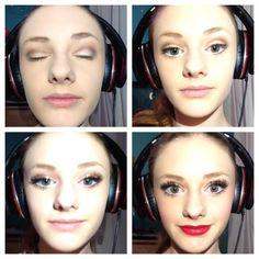 @Reily Warren shields on vine. Flawless stage makeup !